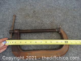 """1-480  8 """" C-clamp"""