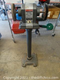 Working Craftsman Bench Grinder With Stand