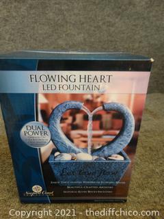 Flowing Heart Led Fountain NIB
