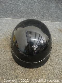 DOT Black Motorcycle  Helmet Small
