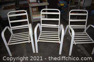 3 Patio Chair - no cushions