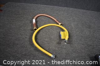 Coper Water Heater Line plus Gas Line
