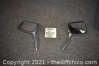Vintage Small Motorcycle Mirrors