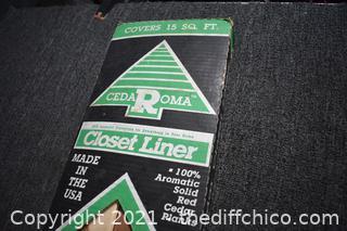 NIB Cedar Closet Liner - 49in long x 4in wide
