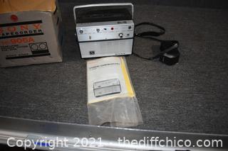 Sony Tapecorder w/box