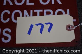 15 3/4in x 11 3/4in Sign