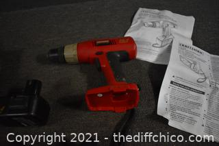 Craftsman Drill, Light, 2 Batteries and Charger