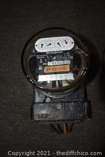2 Vintage PG&E Meters