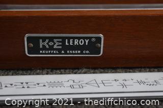K & E Leroy Keuffel and Esser Slider Ruler Set