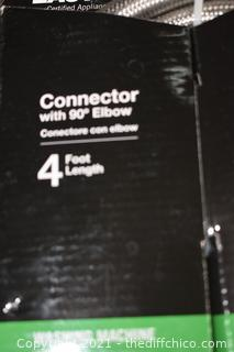 4ft NIB Washing Machine Connector