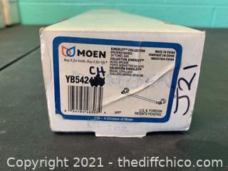 "Moen YB5424CH  Kingsley Chrome 24"" Towel Bar (J21)"