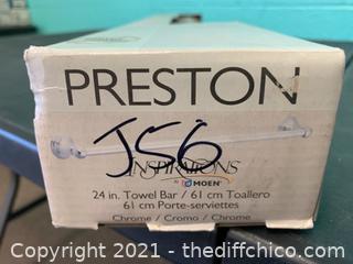 """Moen DN8424CH Preston Chrome 24"""" Towel Bar (J56)"""