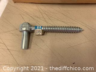 QTY 10 - National Hardware N130-112 291BC Screw Hooks