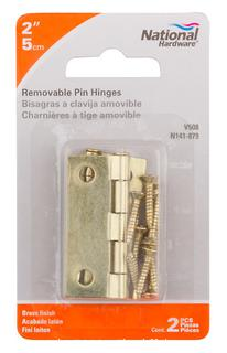 QTY 4 - National Hardware N141-879 508 Removable Pin Hinges (J70)