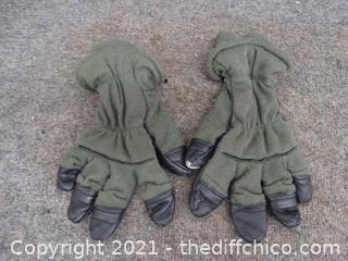 Green/ Black Gloves
