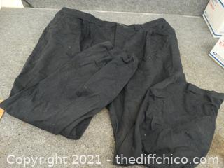 48X 30 Timber Creek Black Mens Dress Pants