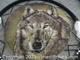 """Wolf Dream Catcher 24"""""""