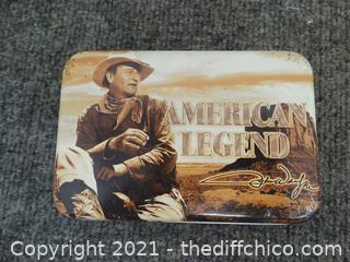 American Legend John Wayne Playing Cards in Tin