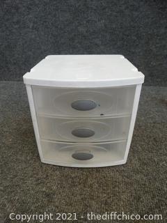 Sterilite 3 Drawer Desk Organzier