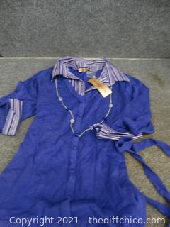 NWT Notations Womens Purple Top 1x