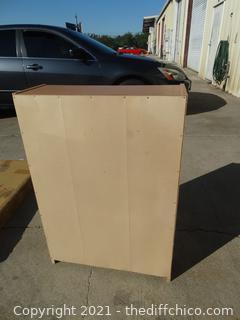 "Wood Book Shelf  3ft x 25 "" x 9 1/2"""