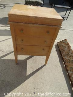 """Sewing Stand With contents 25"""" x 16 1/2"""" 12 1/2"""""""