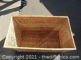 "Wicker Crate For Storage 23"" x 36"" x 30 1/2"""
