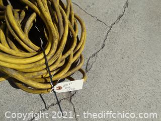 Yellow 100 Foot Extension Cord