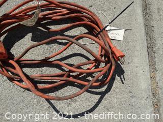 25 FT Orange Extension Cord