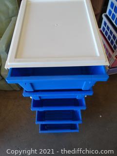 "5 Drawer Storage On wheels 3 ft x 14"" x18"""