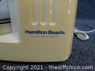 Working Hamilton Beach Food Processor wks