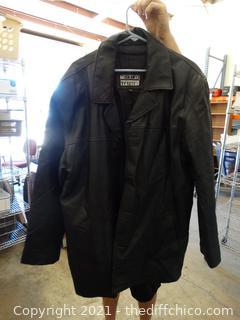 Tuskany Leather Coat  2XL