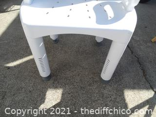 """Shower Chair  Seat 17"""" x  Total 29 1/2"""""""