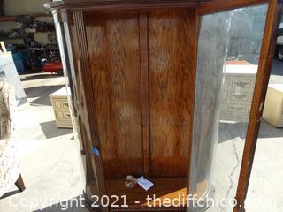"""Vintage Rolling 4 Wood Shelf Hutch 70"""" x  48 1/4"""" x 15 3/4"""""""
