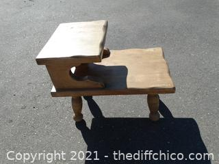 """Wood Side Table 25"""" x 19 x30"""""""