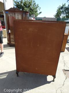 """Vintage Curio Cabinet 50 1/2"""" x 35 1/2"""" x11"""" with Glass Shelves"""