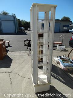 """Rolling Store Display  70 1/2""""  x 16 1/2"""" x16 1/2"""""""