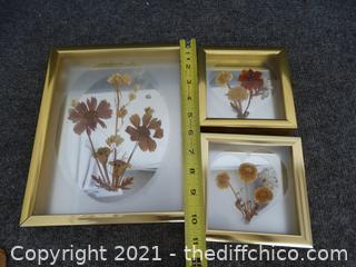 Set Of 3 Shadow Box Pictures