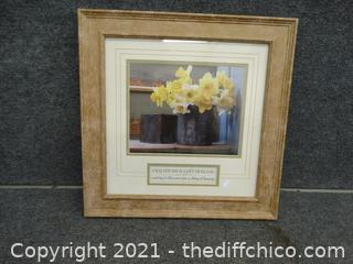 """Framed Picture  17 1/2"""" x 17 1/2"""""""