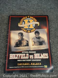 Holyfield vs Holmes Magazine