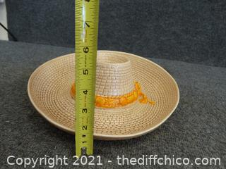 Sombrero Chip And Dip Plate