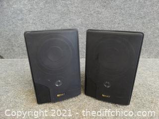 """2 Advent Speakers 10"""" x6"""" x4 1/2"""""""