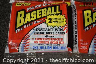 5Pkg NIB Topps Collectible Baseball Trading Cards