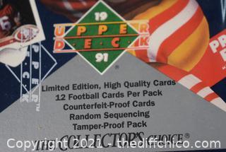 NIB NFL 1991 Upper Deck Football Trading Cards