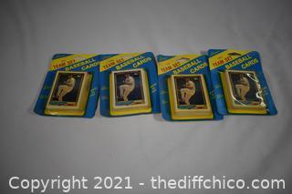 5pkg NIB 18 Team Baseball Cards