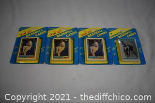 5pkg NIB 18 Baseball Cards