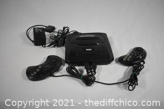 Sega Genesis Unit plus Controllers