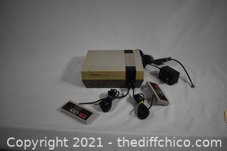 Nintendo NES plus controllers