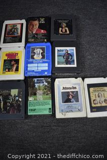 22 Country 8 Track Tapes