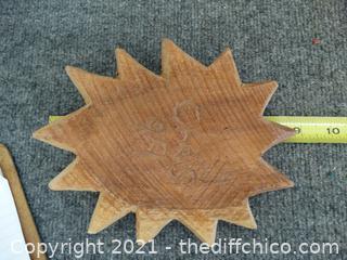 Wood Sun Wall Decor
